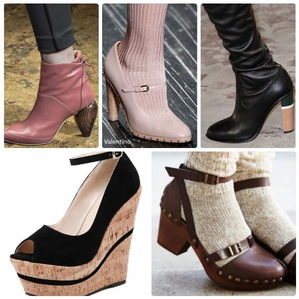 Модная обувь 2016-2017 на деревянной подошве
