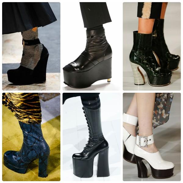 Модная обувь 2016-2017 на высокой платформе