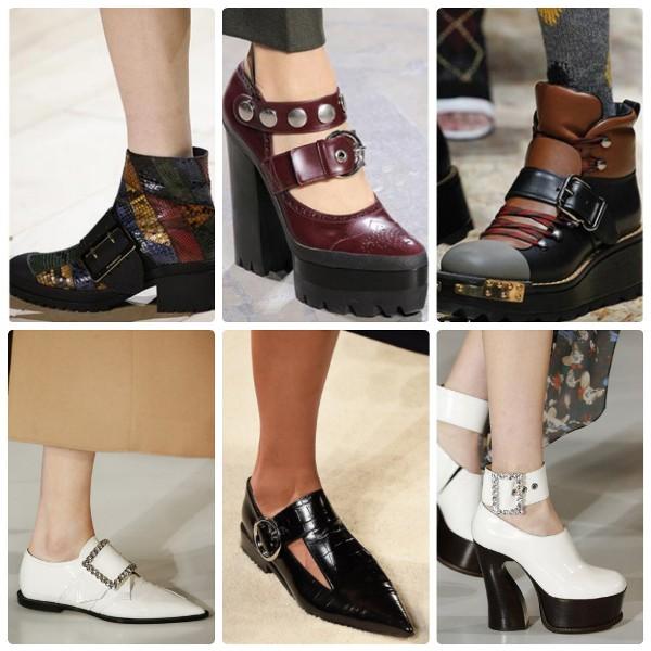 Модная обувь 2016-2017 с большими пряжками