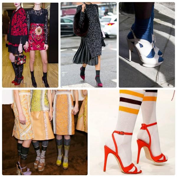 Модный тренде2016-2017 - женская обувь с носками - туфли и босоножки