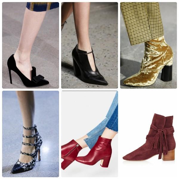 Модная обувь с острым носком 2016-2017 - полусапожки и туфли