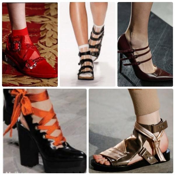 Модная обувь 2016-2017 - ремешки и завязки