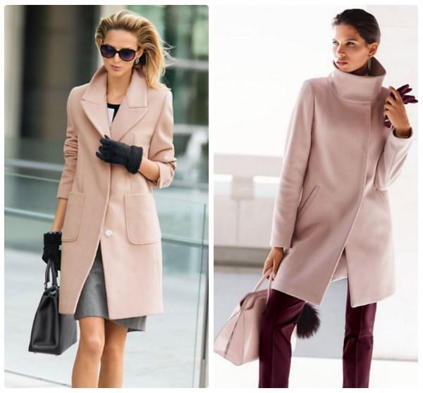 Модные пальто дымчато-розового цвета