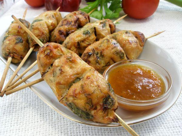Кебаб куриный в духовке рецепт фото