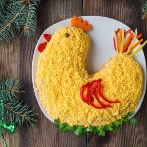 Салат к Новому году Красного Петуха
