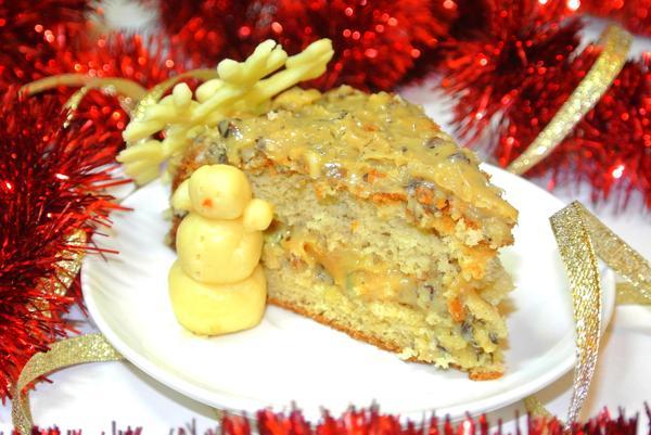 Медовый бисквит для новогоднего стола