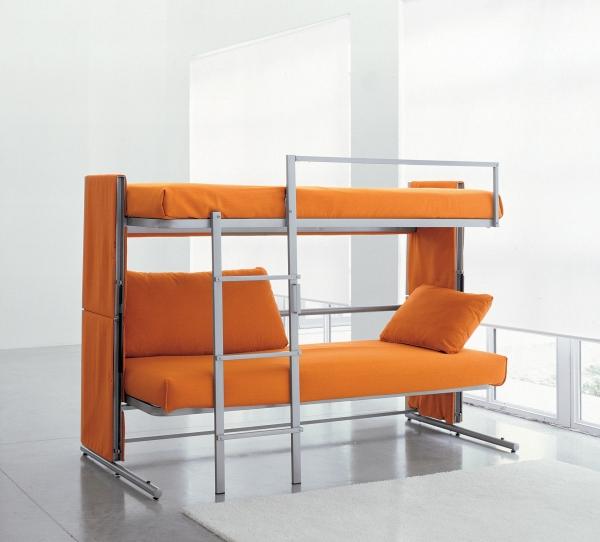 Диван раскладной двухъярусный оранжевый