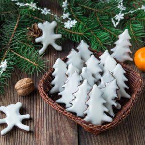Шоколадное печенье с глазурью. Новогодняя выпечка