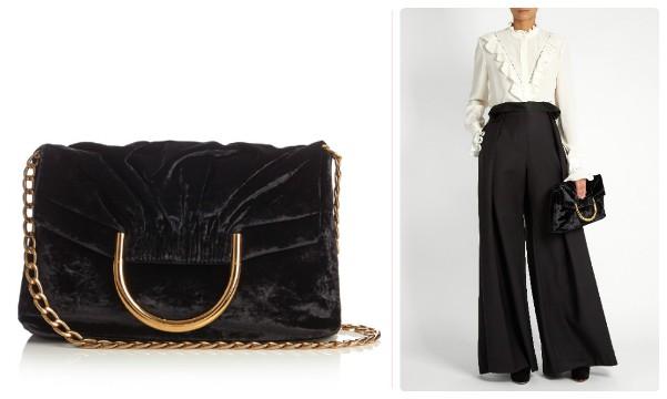 Черная бархатная сумка Стелла Маккартни