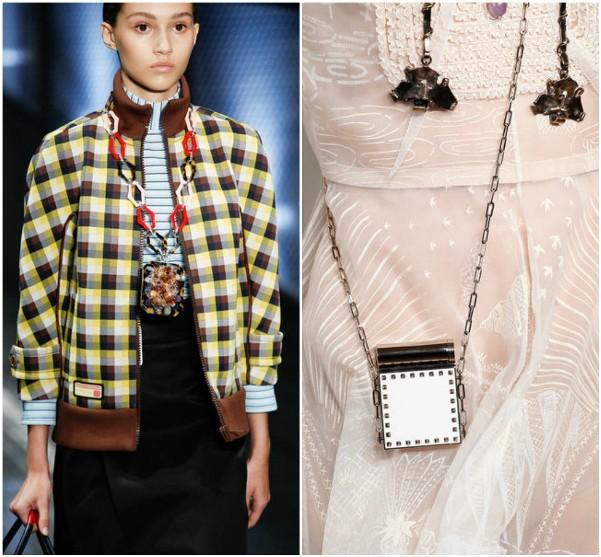 Маленькие сумки Prada, Valentino