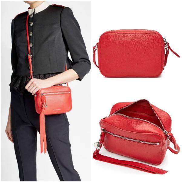 Маленькая прямоугольная сумочка Alexander McQueen красного цвета