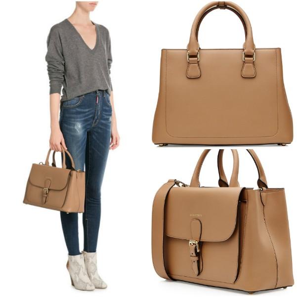 Светло-коричневая наплечная сумка с ремешком Burberry