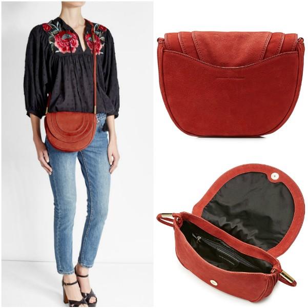 Красная замшевая сумка через плечо Diane von Furstenberg