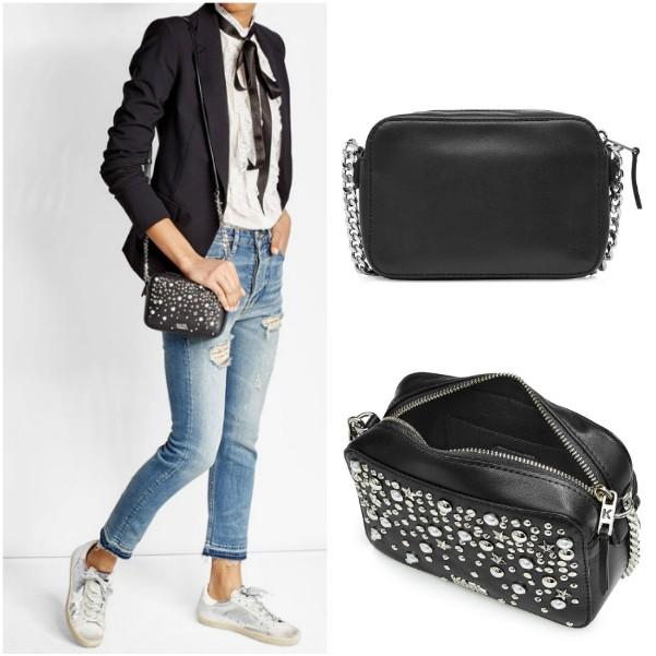 Черная сумка через плечо Karl Lagerfeld