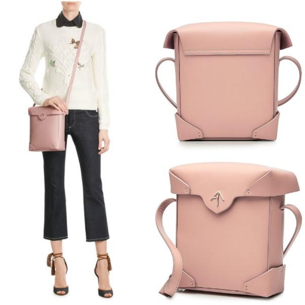 Розовая сумочка Manu Atelier через плечо