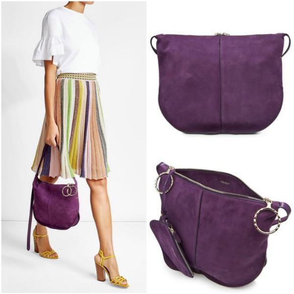 Фиолетовая сумка через плечо Nina Ricci