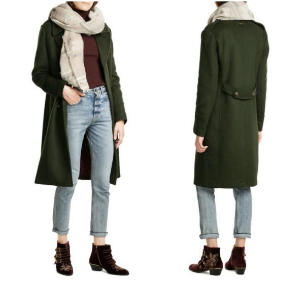 Как носить длинный шерстяной шарф с пальто