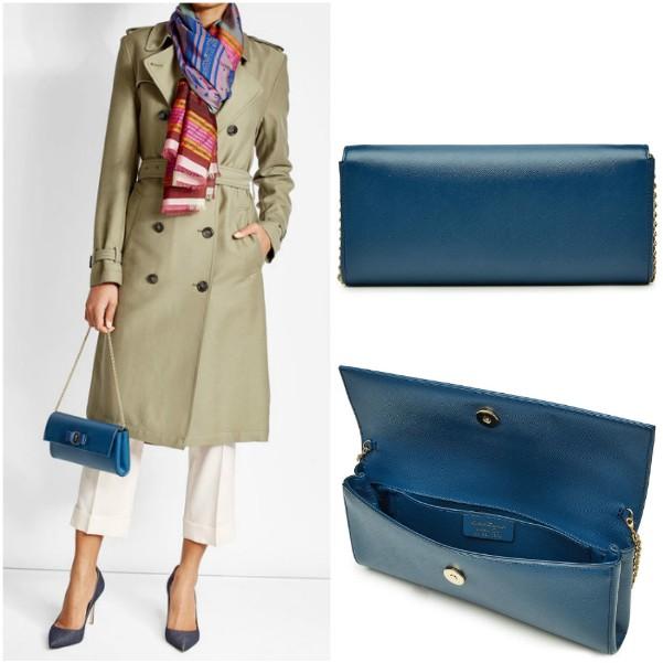 Синяя сумка на цепочке Salvatore Ferragamo