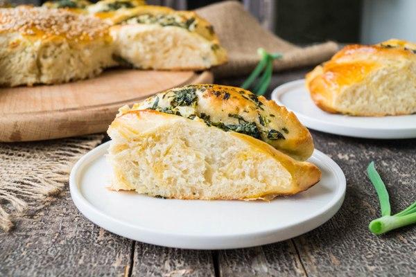 """Пирог со шпинатом и сыром """"Солнышко"""""""