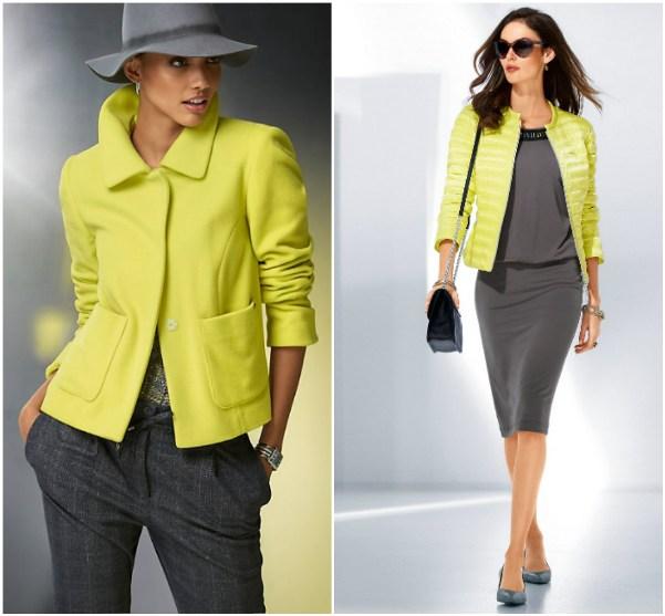 Желтый блейзер и желтая курточка