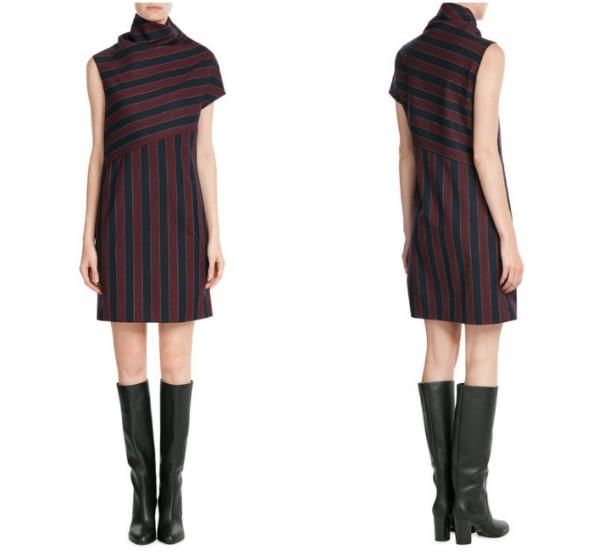 Ассиметричное платье в полоску Carven