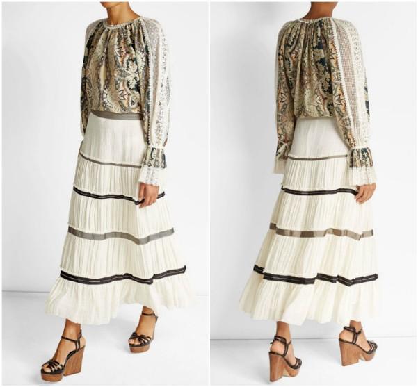 Etro, блузка и юбка в стиле бохо