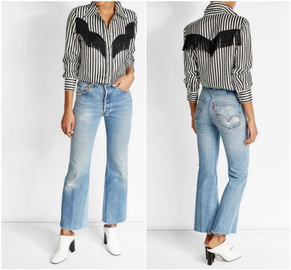 Рубашка в черно-белую полоску Marc Jacobs