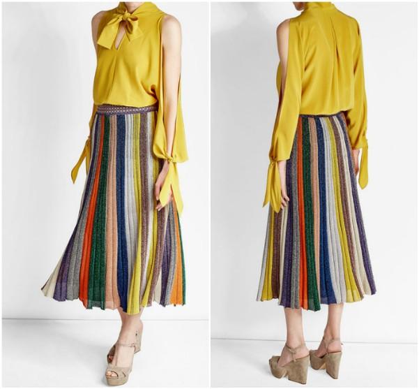 Длинная юбка в вертикальную цветную полоску Missoni