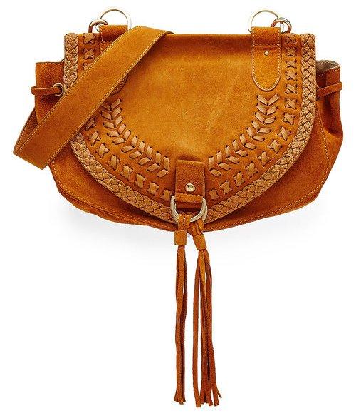 See by Chloé, сумка в стиле бохо, рыжая