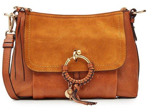 See-by-Chloé, сумка коричневая замшевая в стиле бохо