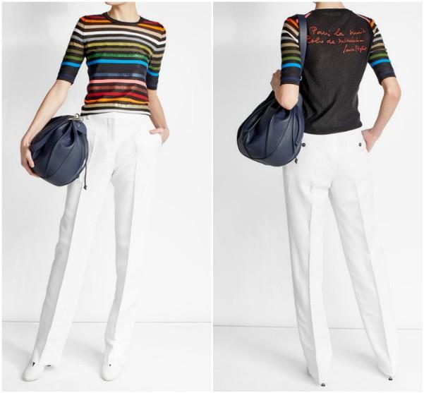 Пуловер в разноцветную полоску Sonia Rykiel