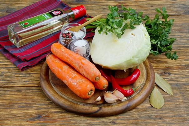 Маринованная капуста за час - ингредиенты