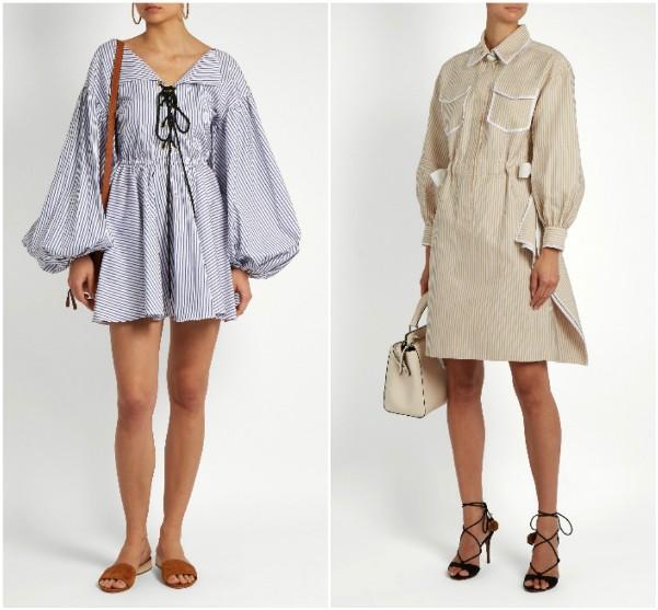 Летние платья 2017 от Caroline Constas, Fendi