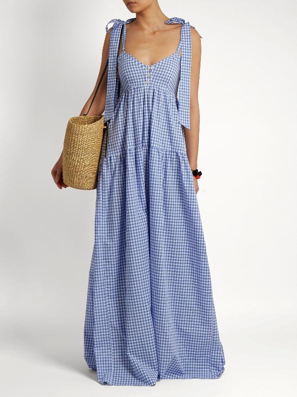 Длинное платье летнее от Caroline Constas