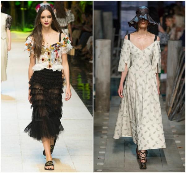 Платья с декольте Dolce & Gabbana, Erdem