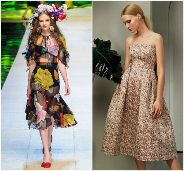 Летние платья 2017 Dolce & Gabbana, Erdem