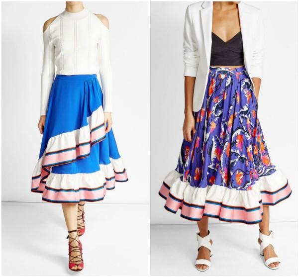 Длинные юбки с воланами EmilioPucci