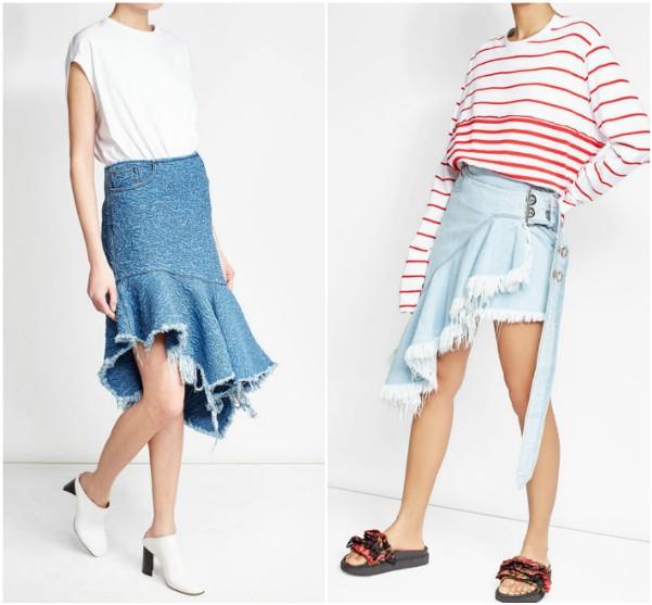 Голубые юбки с воланами Marques', Almeida