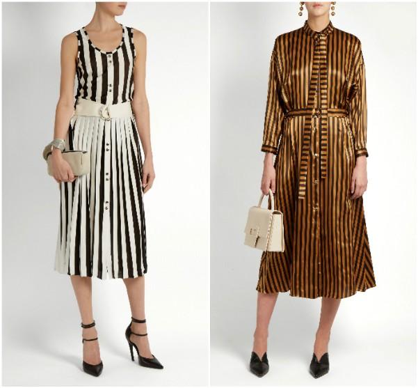Два платья в полоску вертикальную от Nina Ricci