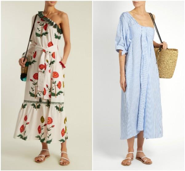 Платья с одни открытым плечом Rhode Resort, Teija