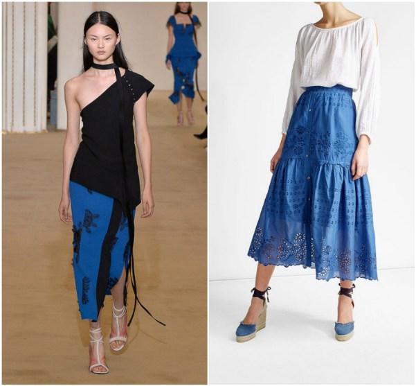 Синие юбки с оборками и воланами Roland-Mouret_SEA