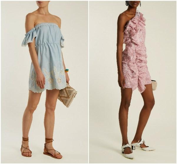 Короткие платья с воланами Athena Procopiou, и MSGM