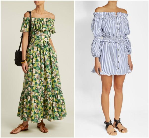 Длинное платье с оборками La DoubleJ Editions, короткое Caroline Constans
