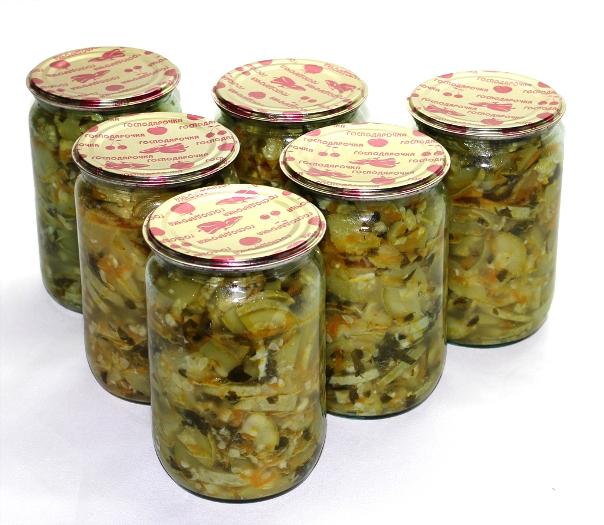 Салат из кабачков. Заготовка на зиму