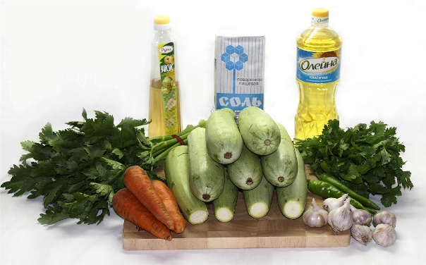 Закуска из кабачков на зиму - ингредиенты