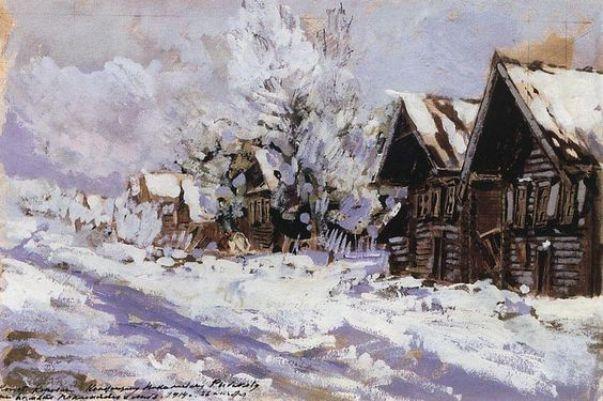 Зимой. 1914. Коровин Константин Алексеевич (1861-1939)