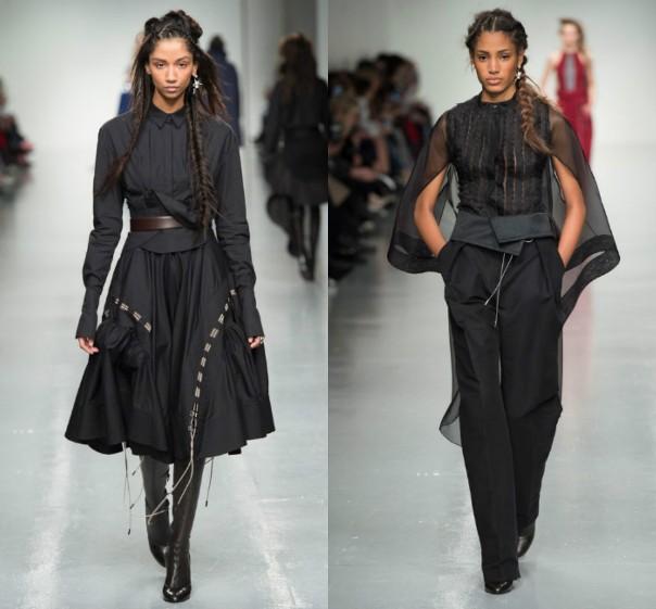 Antonio Berardi - женская одежда черного цвета: платье и брючный ансамбль