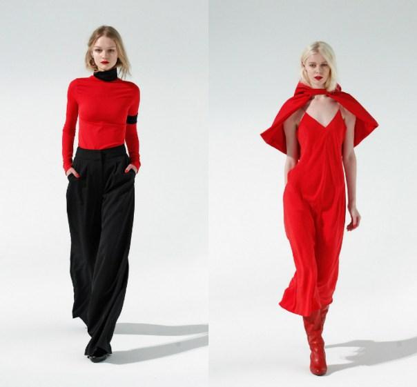 Katie Gallagher 2018 - красная одежда