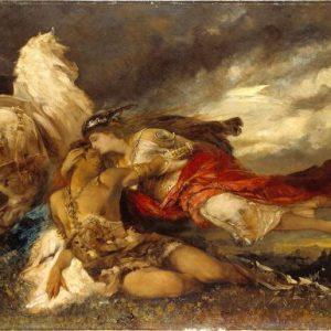 Валькирия и умирающий герой. Ганс Макарт