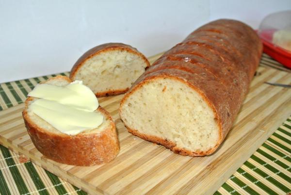 Творожный хлеб, багет